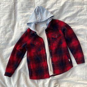 Soho Threads Sherpa Lined Flannel Jacket | Medium